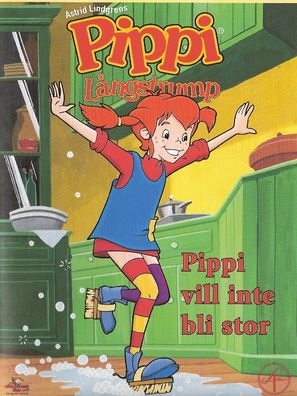"""Pippi Longstocking"" - Swedish DVD movie cover (thumbnail)"
