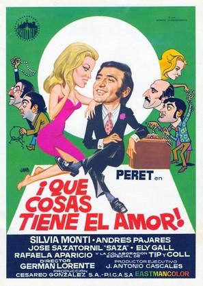 ¡Qué cosas tiene el amor! - Spanish Movie Poster (thumbnail)