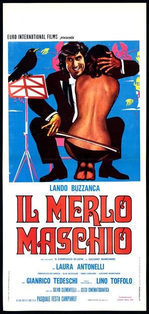 Il merlo maschio - Italian Movie Poster (thumbnail)