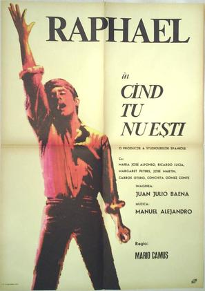 Cuando tú no estás - Romanian Movie Poster (thumbnail)