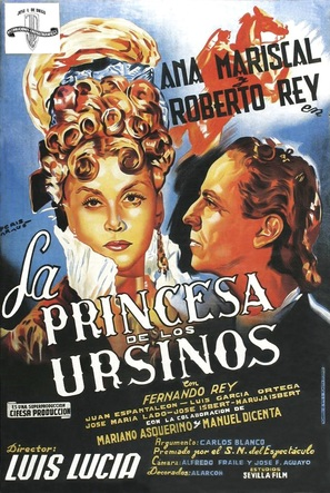 Princesa de los ursinos, La - Spanish Movie Poster (thumbnail)