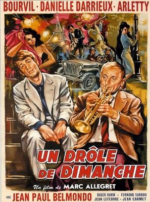Un drôle de dimanche - French Movie Poster (thumbnail)