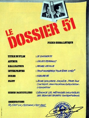 Le dossier 51 - French Movie Poster (thumbnail)