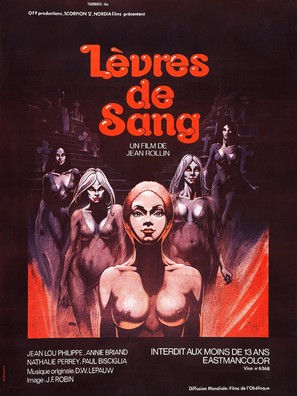 Lèvres de sang - French Movie Poster (thumbnail)