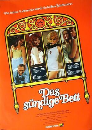 Das sündige Bett - German Movie Poster (thumbnail)