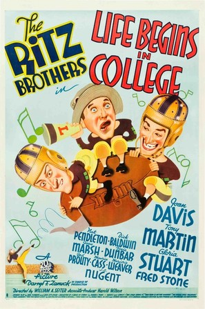 Life Begins in College - Movie Poster (thumbnail)