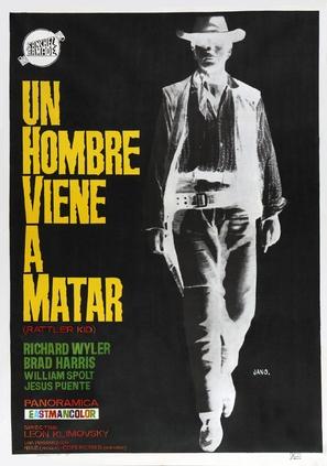 Hombre vino a matar, Un - Spanish Movie Poster (thumbnail)