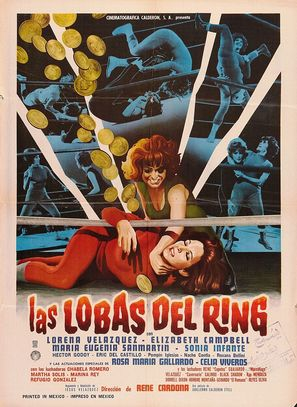 Las lobas del ring - Mexican Movie Poster (thumbnail)