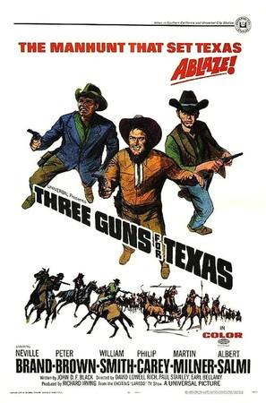 Three Guns for Texas - Movie Poster (thumbnail)