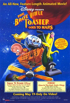 The Brave Little Toaster Goes to Mars - Video release movie poster (thumbnail)