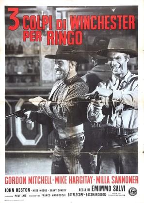 3 colpi di Winchester per Ringo - Italian Movie Poster (thumbnail)