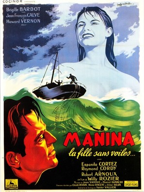 Manina, la fille sans voiles - French Movie Poster (thumbnail)