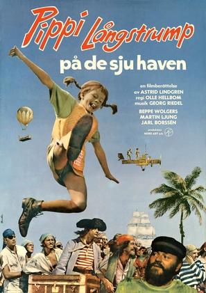 Pippi Långstrump på de sju haven - Swedish Movie Poster (thumbnail)