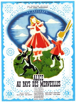 Alice in Wonderland - French Movie Poster (thumbnail)