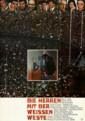Die Herren mit der weissen Weste - German Movie Poster (thumbnail)