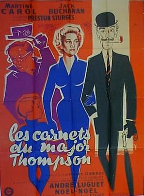 Les carnets du Major Thompson - French Movie Poster (thumbnail)