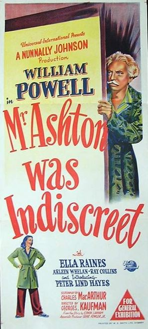 The Senator Was Indiscreet - Australian Movie Poster (thumbnail)