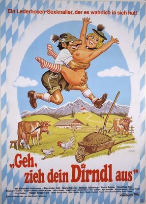 Geh, zieh dein Dirndl aus - German Movie Poster (thumbnail)