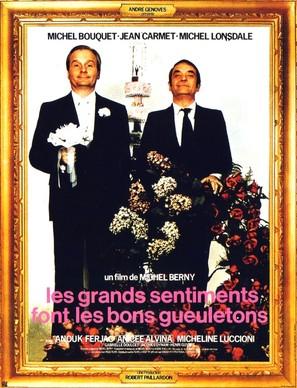 Les grands sentiments font les bons gueuletons - French Movie Poster (thumbnail)