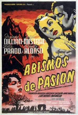Abismos de pasión - Mexican Movie Poster (thumbnail)