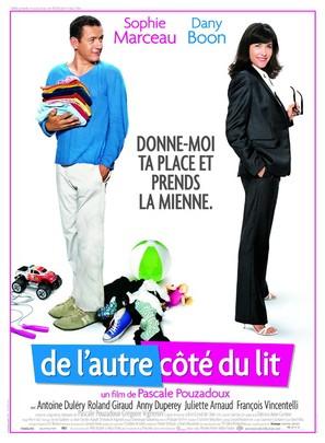 De l'autre cote du lit - French Movie Poster (thumbnail)