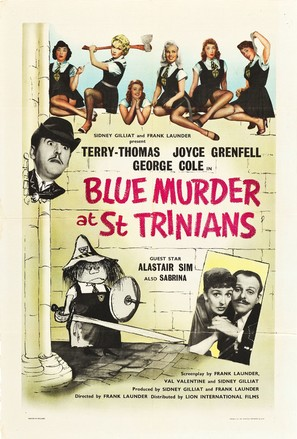 Blue Murder at St. Trinian's - British Movie Poster (thumbnail)
