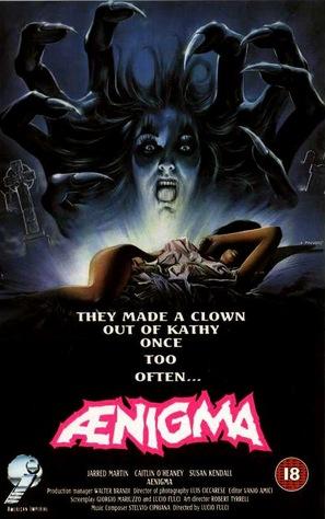 Aenigma - British VHS movie cover (thumbnail)