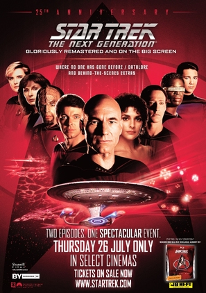 """Star Trek: The Next Generation"" - Video release movie poster (thumbnail)"