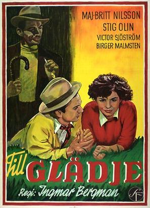 Till glädje - Swedish Movie Poster (thumbnail)