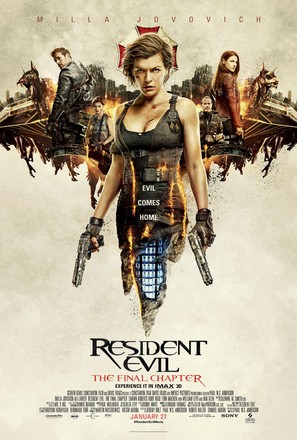 Resident Evil: The Final Chapter - Theatrical movie poster (thumbnail)