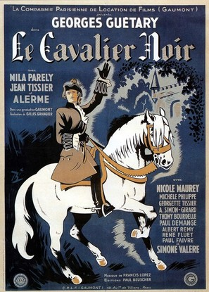 Le cavalier noir - French Movie Poster (thumbnail)
