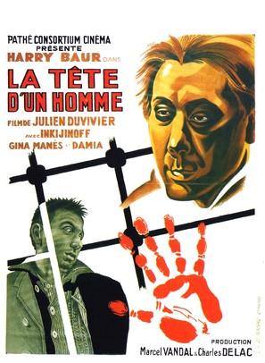 La tête d'un homme - French Movie Poster (thumbnail)