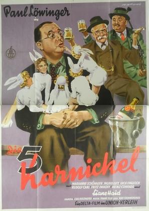 Die fünf Karnickel - German Movie Poster (thumbnail)