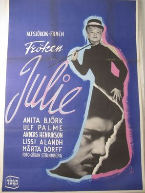 Fröken Julie - Swedish Movie Poster (thumbnail)