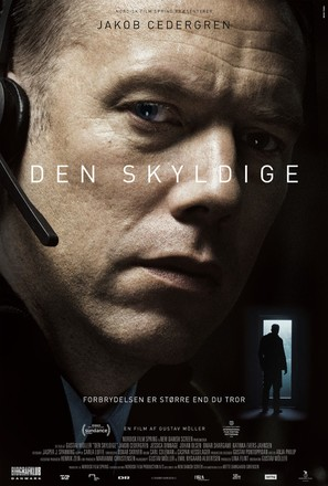 Den skyldige - Danish Movie Poster (thumbnail)