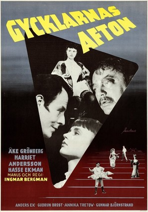 Gycklarnas afton - Swedish Movie Poster (thumbnail)
