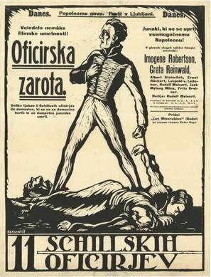 Die elf schillschen Offiziere - Slovenian Movie Poster (thumbnail)