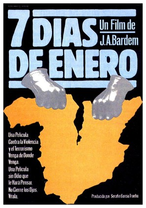Siete días de enero - Spanish Movie Poster (thumbnail)