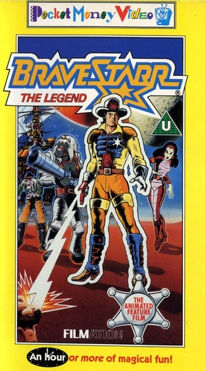 BraveStarr: The Legend - British VHS movie cover (thumbnail)