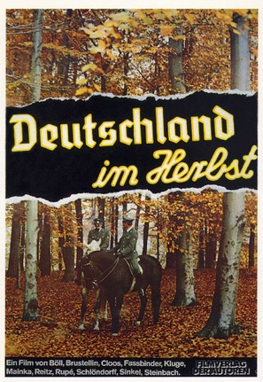 Deutschland im Herbst - German Movie Poster (thumbnail)