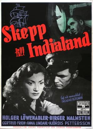 Skepp till India land - Swedish Movie Poster (thumbnail)