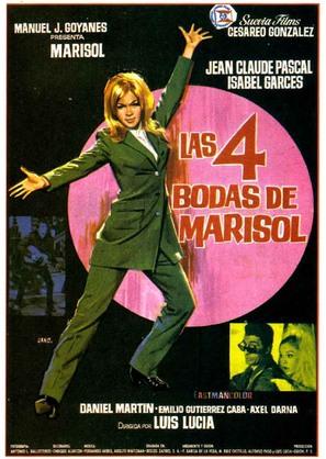 Las 4 bodas de Marisol - Spanish Movie Poster (thumbnail)