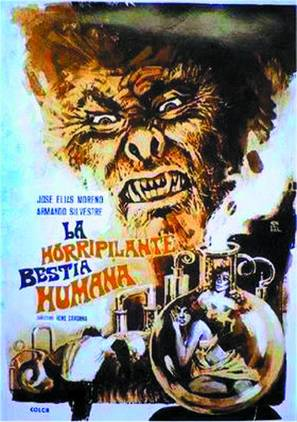 Horripilante bestia humana, La - Mexican Movie Poster (thumbnail)