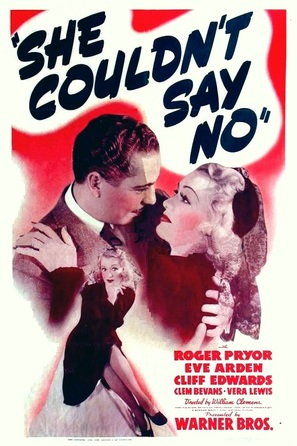 She Couldn't Say No - Movie Poster (thumbnail)