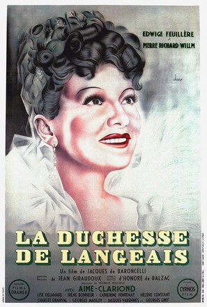 La duchesse de Langeais - French Movie Poster (thumbnail)