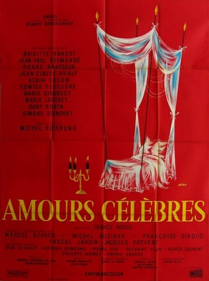 Amours célèbres - French Movie Poster (thumbnail)