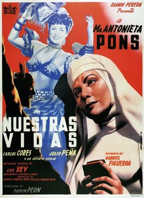 Nuestras vidas - Mexican Movie Poster (thumbnail)