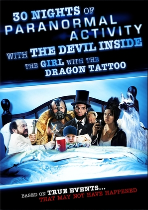 30 Nights of Paranormal Activity with the Devil Inside the Girl with the Dragon Tattoo - DVD movie cover (thumbnail)