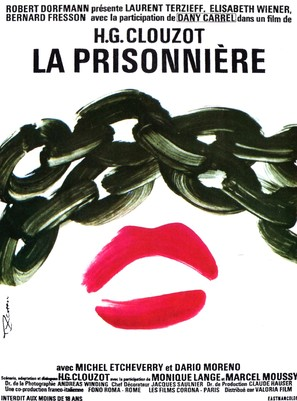 Prisonniére, La - French Movie Poster (thumbnail)