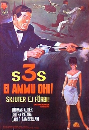 Der Fluch des schwarzen Rubin - Finnish Movie Poster (thumbnail)